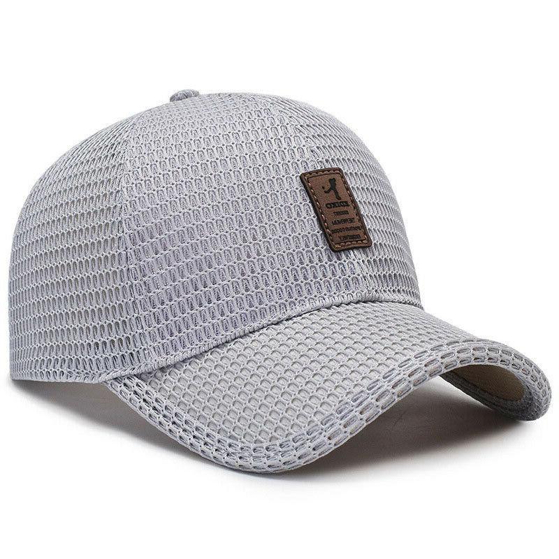 Men's Baseball Cap Hat Mesh Plain Caps