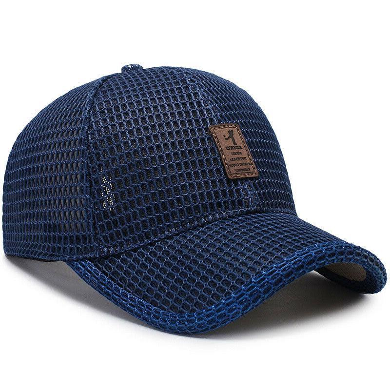 Men's Cap Trucker Hat Snapback Solid Mesh Plain Caps