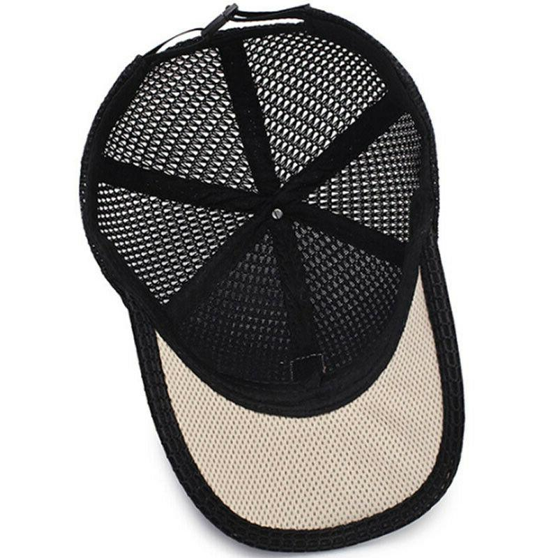 Men's Trucker Hat Snapback Mesh Plain Caps