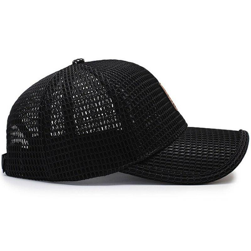 Men's Baseball Trucker Hat Solid Mesh Plain Blank Caps