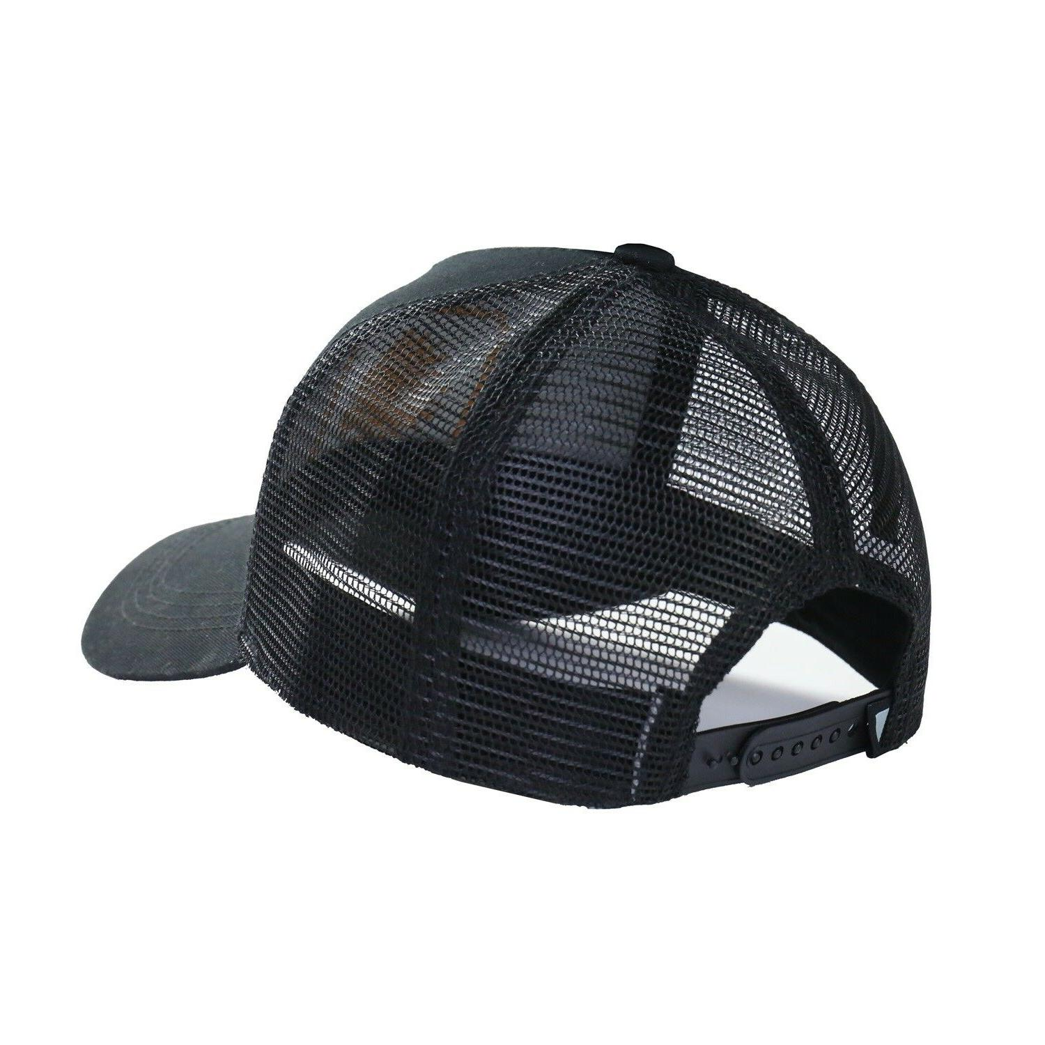 Men's Head Adjustable Mesh Trucker Sports Baseball Black