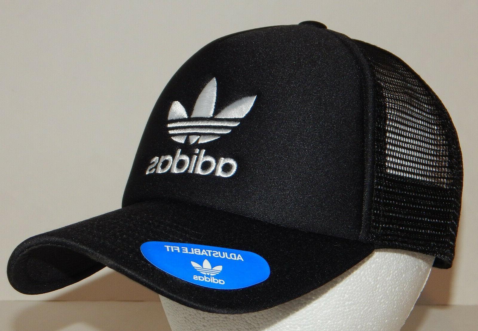 Adidas Men's Originals Trefoil Trucker Hat Cap NEW Snapback White