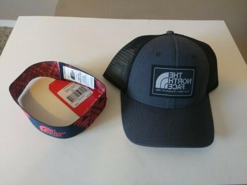 men s patches mesh trucker hat black
