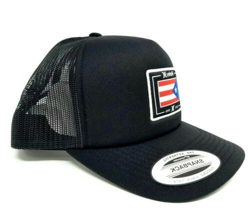 Hurley Men's Rico Trucker Snapback Hat Cap Hurley Black