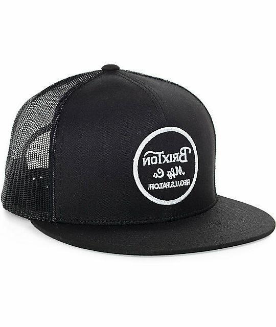 men s wheeler snapback trucker hat black