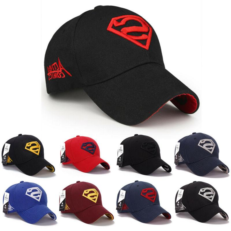 men women superman baseball cap snapback hat