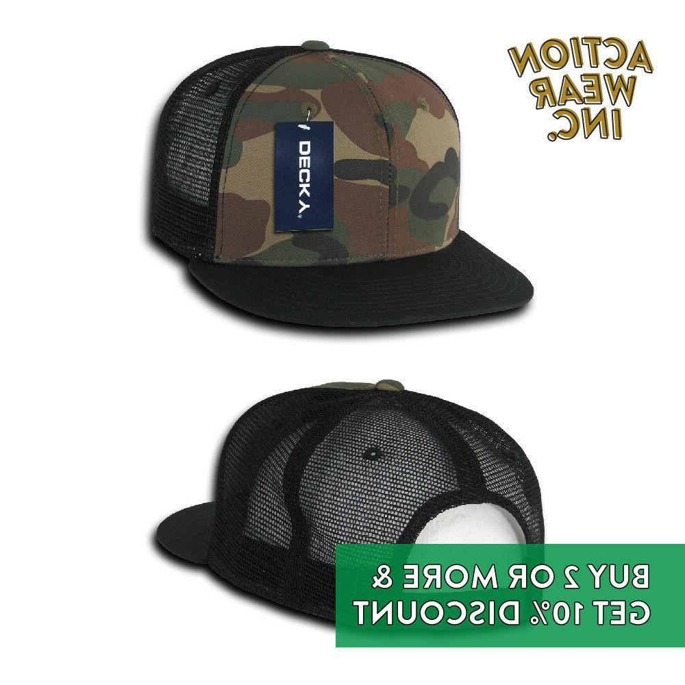DECKY TRUCKER BASEBALL HATS SNAPBACK CAP BDU SOLID