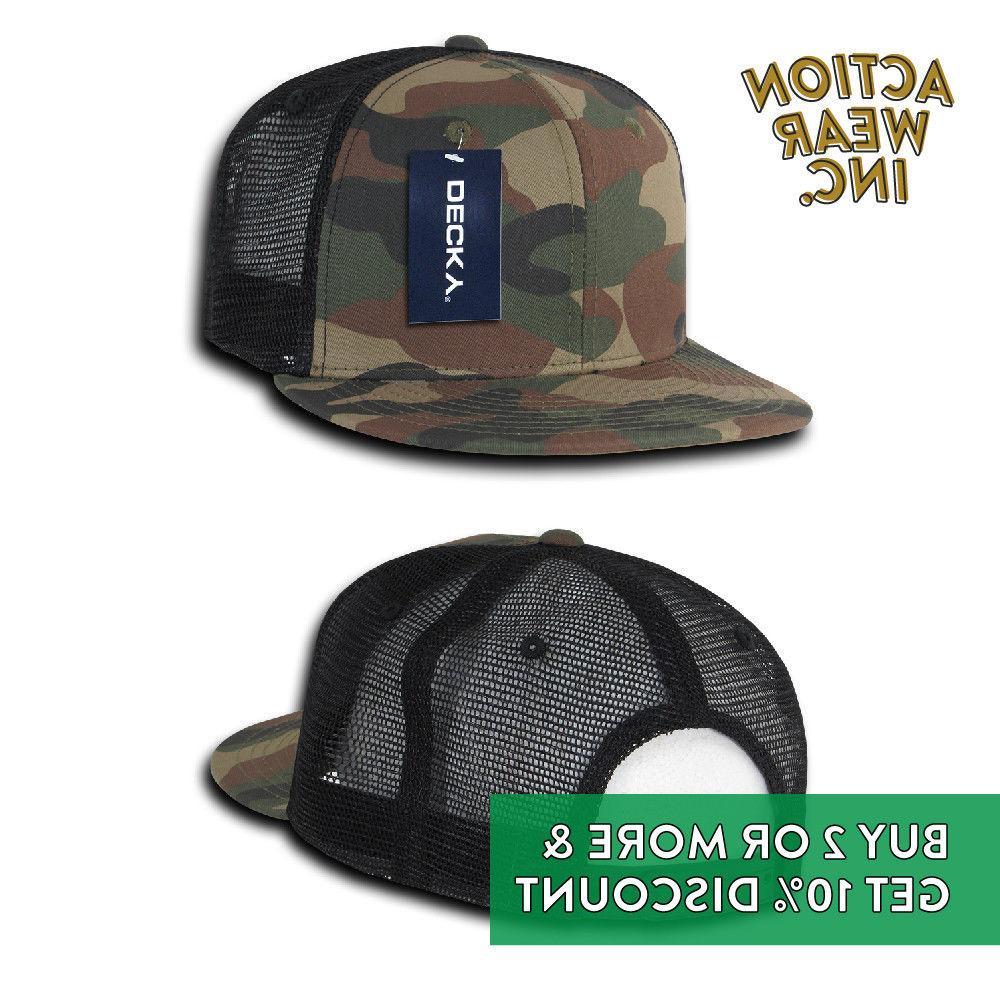DECKY MENS MESH TRUCKER HAT SNAPBACK CAP BDU