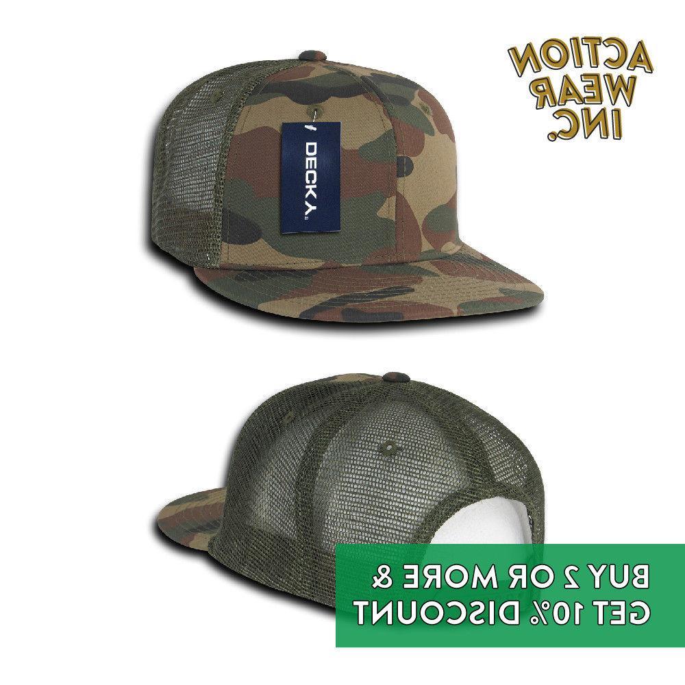 DECKY MENS ARMY TRUCKER HAT BASEBALL SNAPBACK CAP BDU