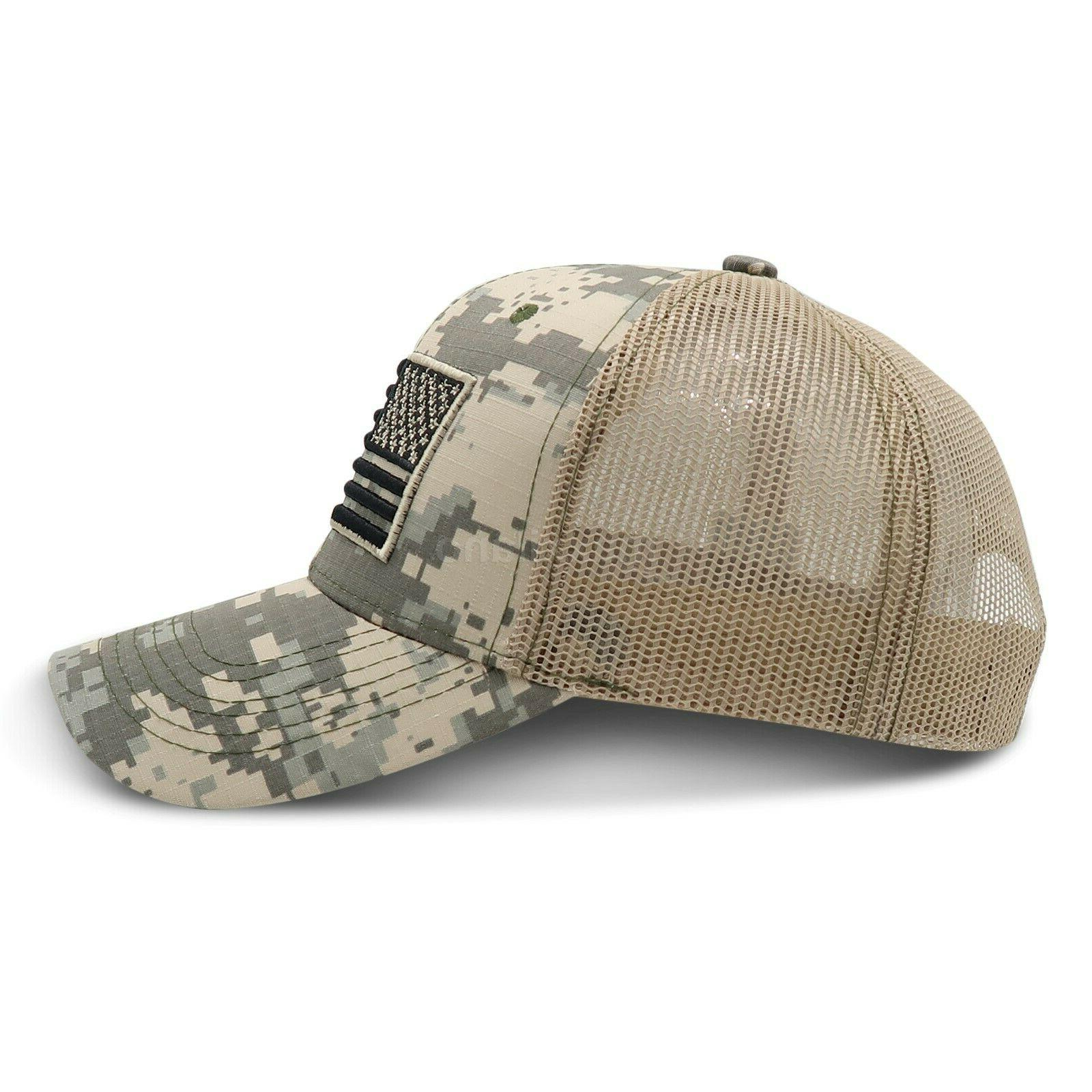 Mens Cotton Tactical Trucker Hats Mesh Hat