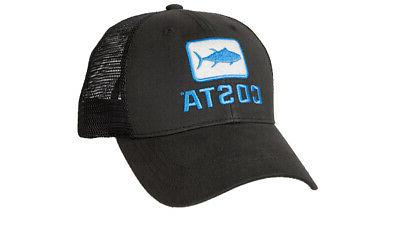 mens fishing del mar tuna trucker hat