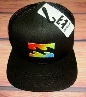 mens iconic logo snapback adjustable cap black