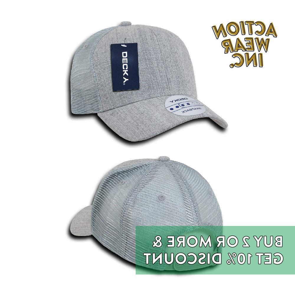DECKY 1054 SNAP BACK TRUCKER ACTIVE PRE-CURVED MESH