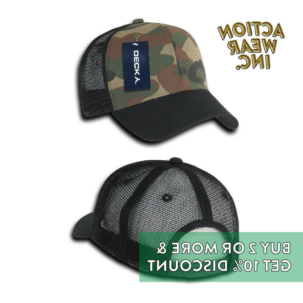DECKY MENS BACK ACTIVE PRE-CURVED BILL HATS MESH