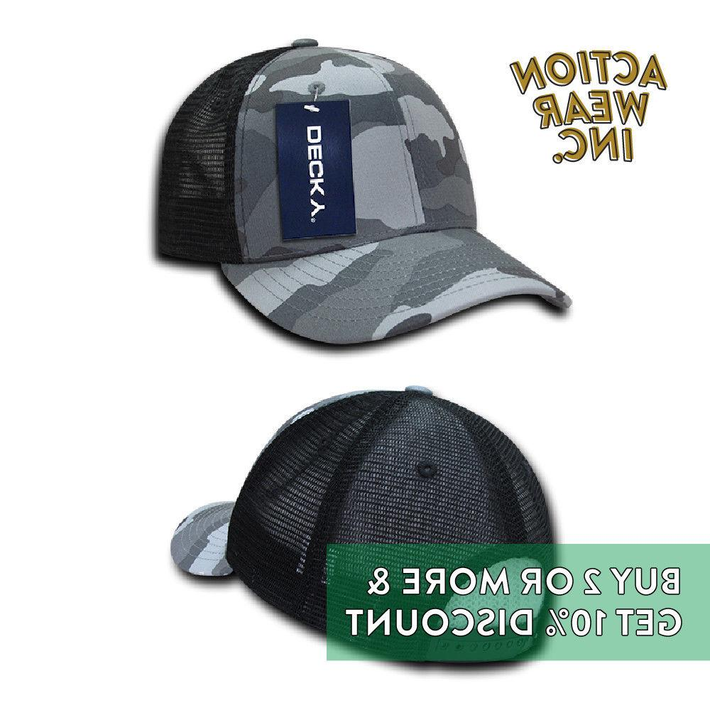 DECKY MENS SNAP BACK TRUCKER PRE-CURVED