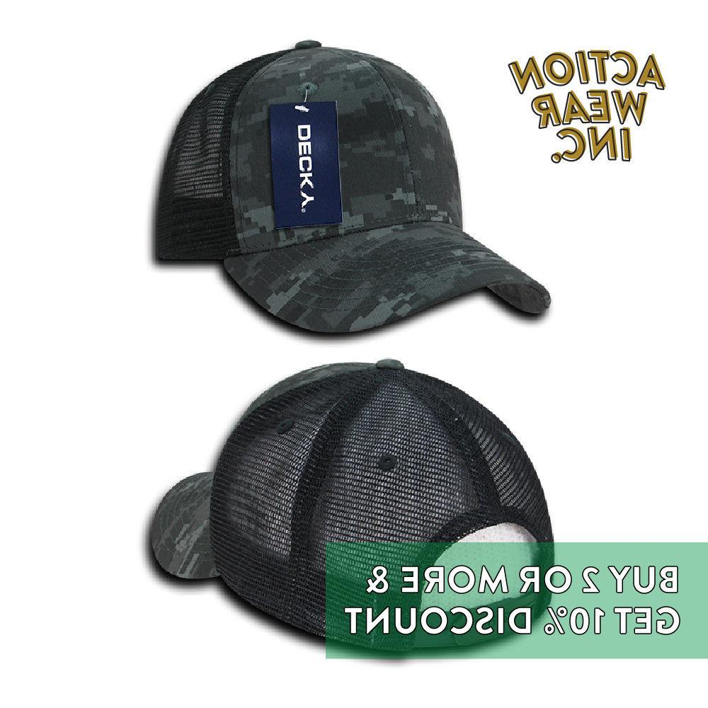 DECKY 1054 BACK HAT ACTIVE PRE-CURVED BILL CAPS MESH