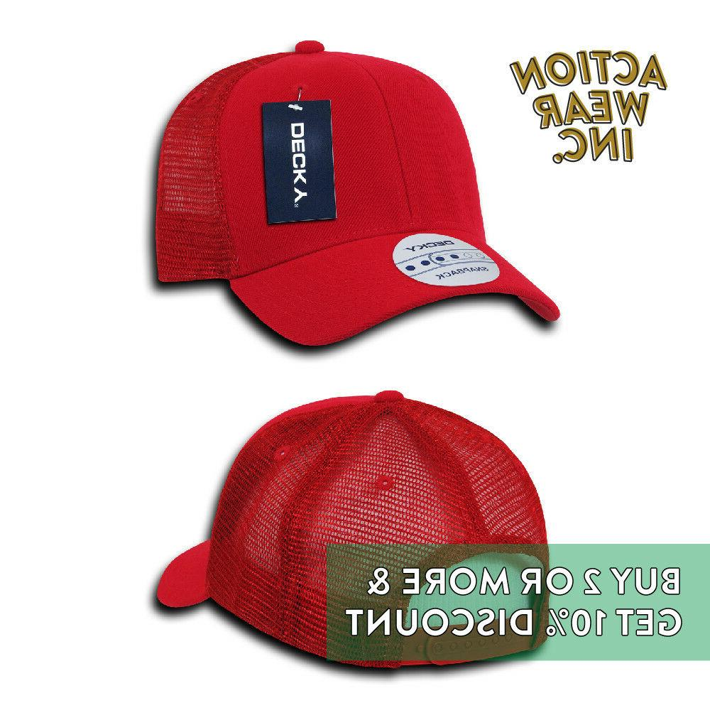 DECKY MENS BACK HAT ACTIVE PRE-CURVED MESH CAP