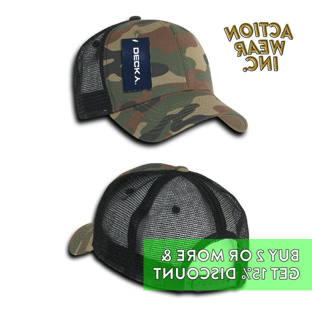 DECKY 1054 SNAP BACK PRE-CURVED BILL HATS MESH