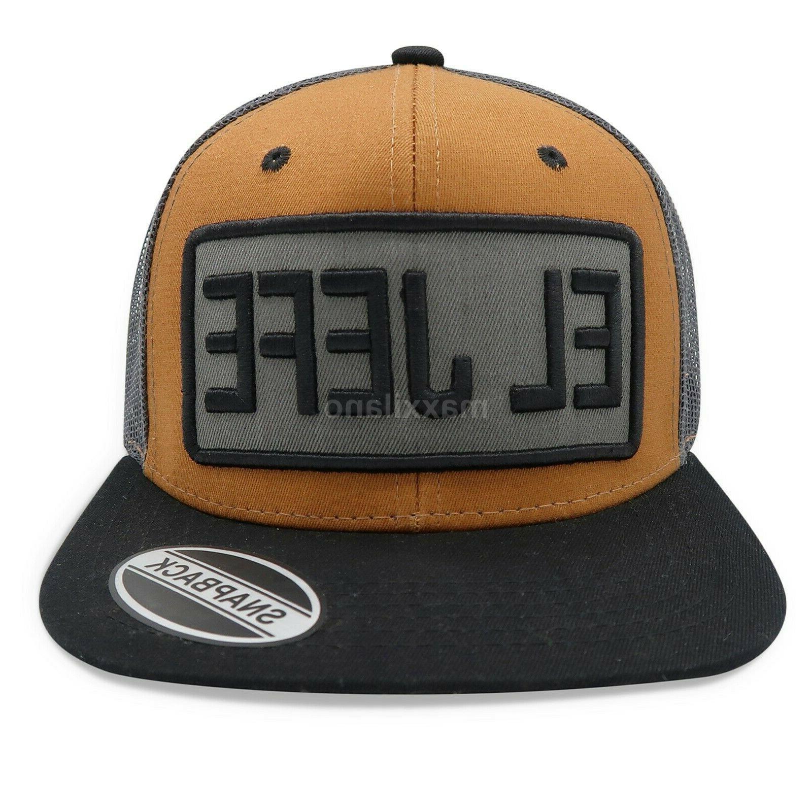 Mens Snapback Mesh Hat Adjustable Trucker Hats Flat Cap Hop Style