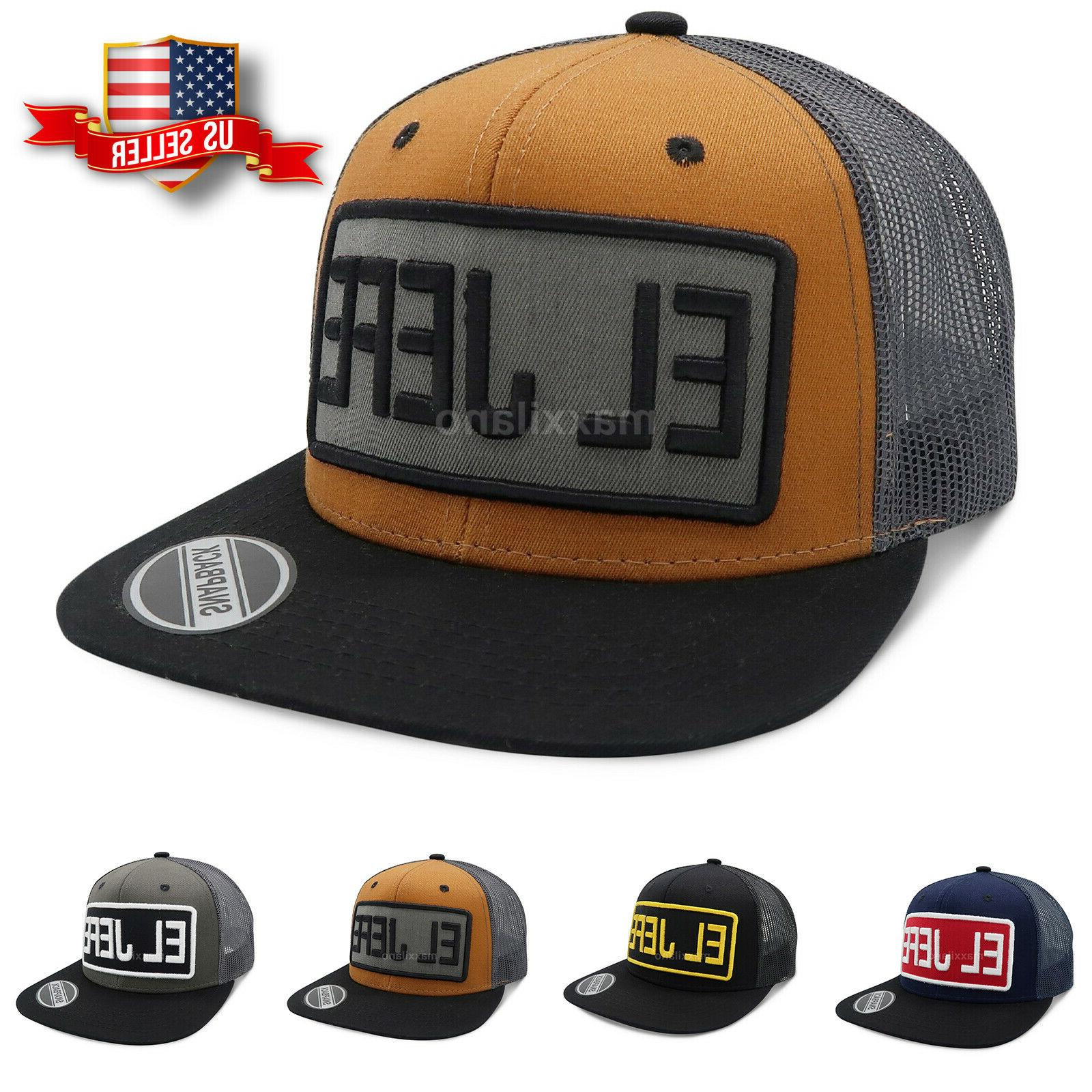 mens snapback mesh hat adjustable size trucker