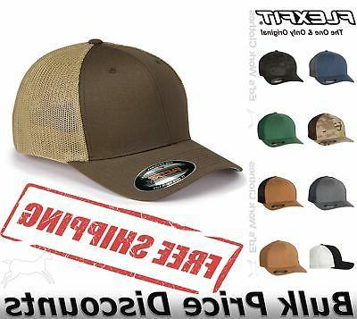 mens trucker cap hat structured ball blank