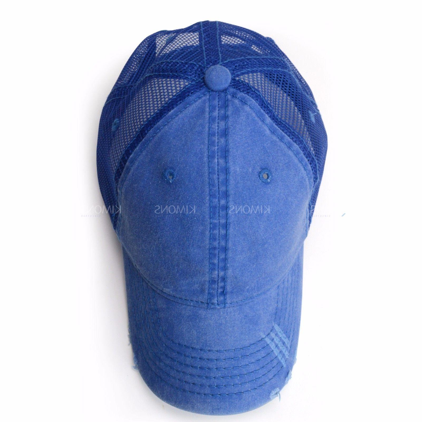 Mesh Trucker Cap Cotton Washed Baseball