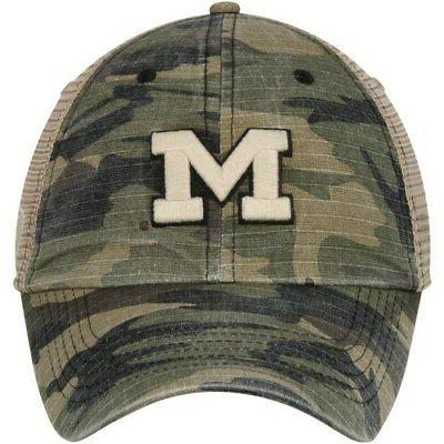 Michigan Wolverines Top of the World Adjustable Camo