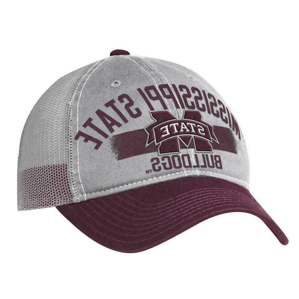 mississippi state bulldogs trucker hat os new