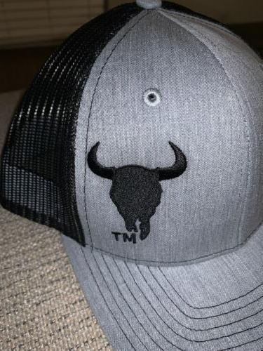Montana Bison Trucker Hat Black Gray - Store -NWT