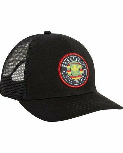 Billabong Native Trucker Hat Hawaiian Flag Black