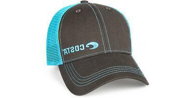 neon trucker black twill hat