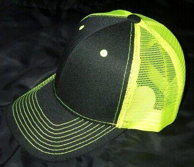 Neon back trucker Frnt safety cap
