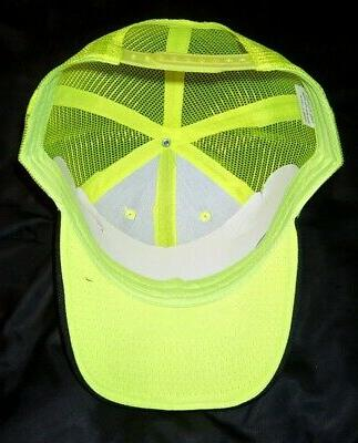 Neon Yellow mesh back Frnt Quality cap