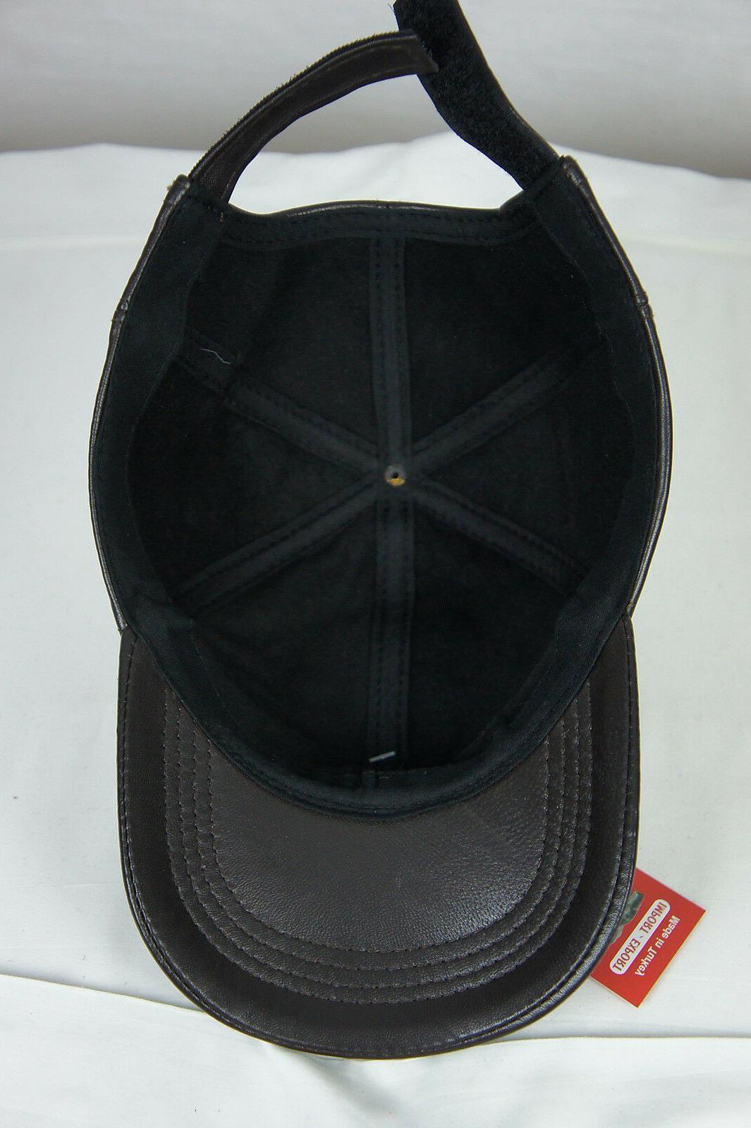 New 100% Genuine Lambskin Baseball Cap Hat Trucker