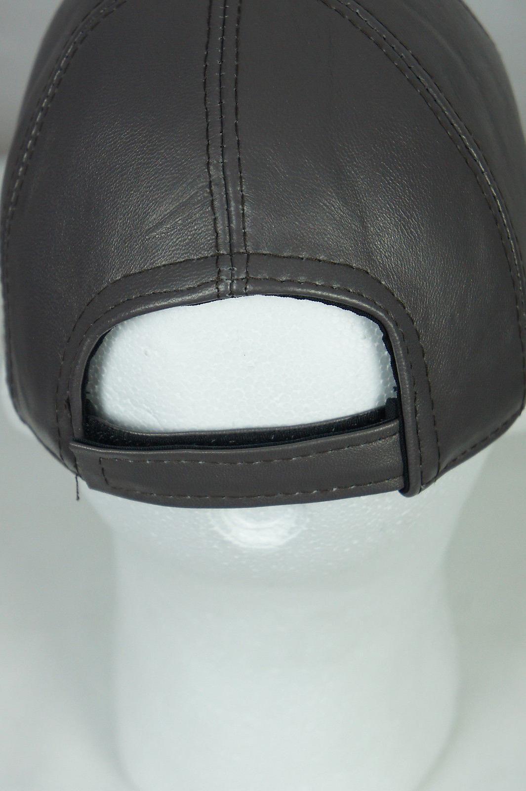 New 100% Real Lambskin Baseball Hat Trucker