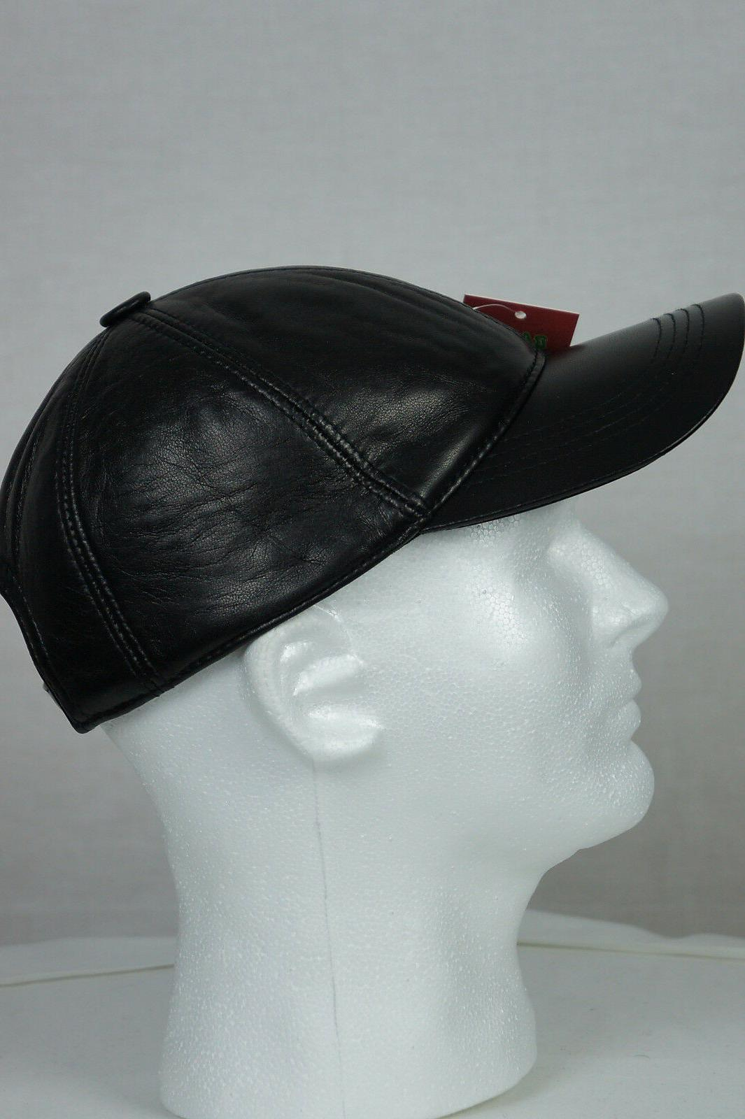 New 100% Genuine Real Lambskin Baseball Hat Sports
