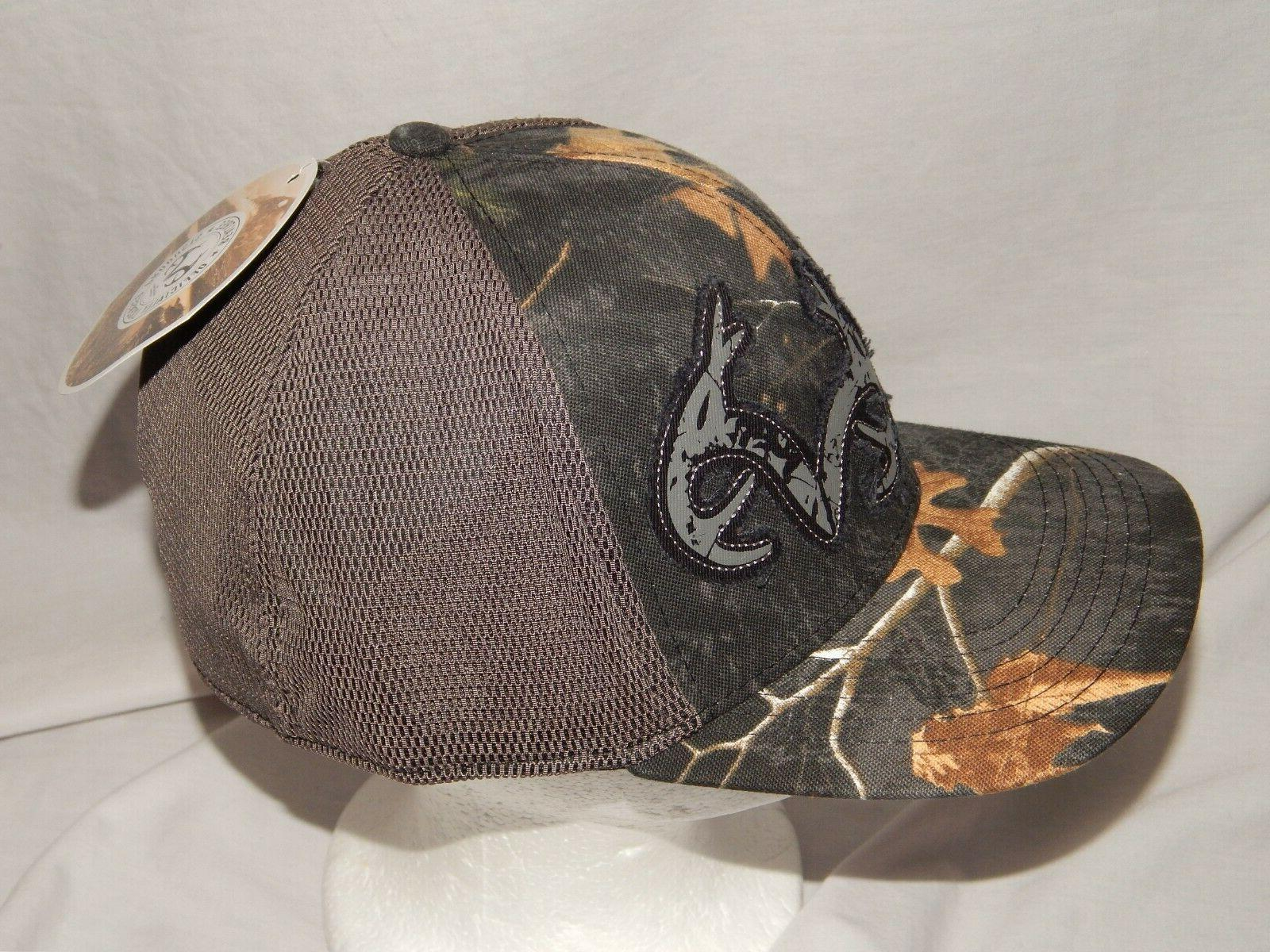 NEW Realtree Hat Trucker Cap Stretch Camo Deer Mens Size S/M