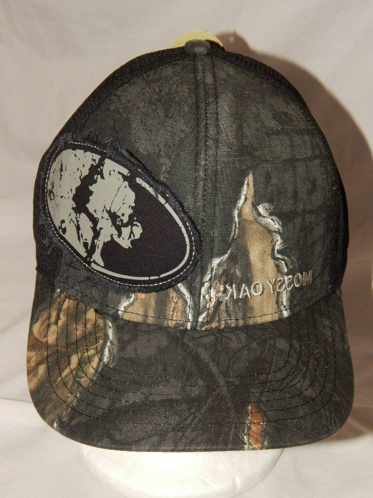 NEW Mossy Oak Hat Trucker Cap Dark Tree Camo Deer Hunting St