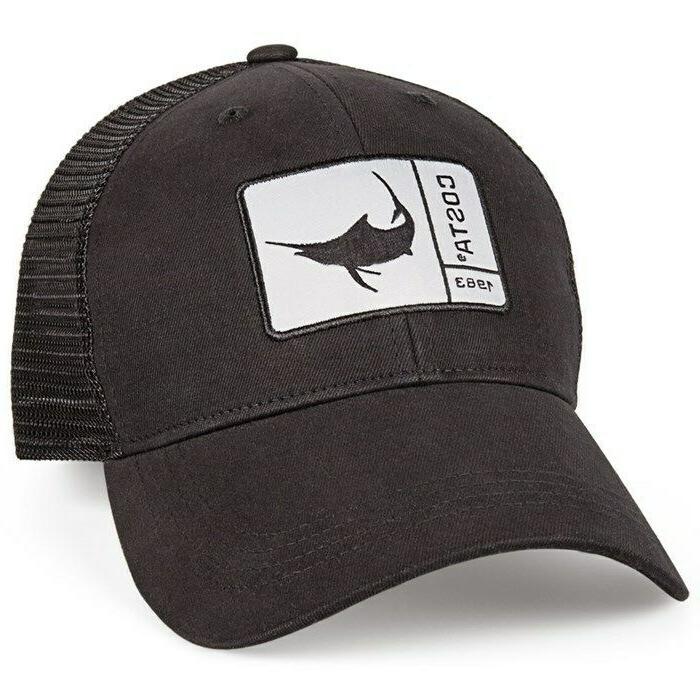 new marlin patch black trucker hat osfa