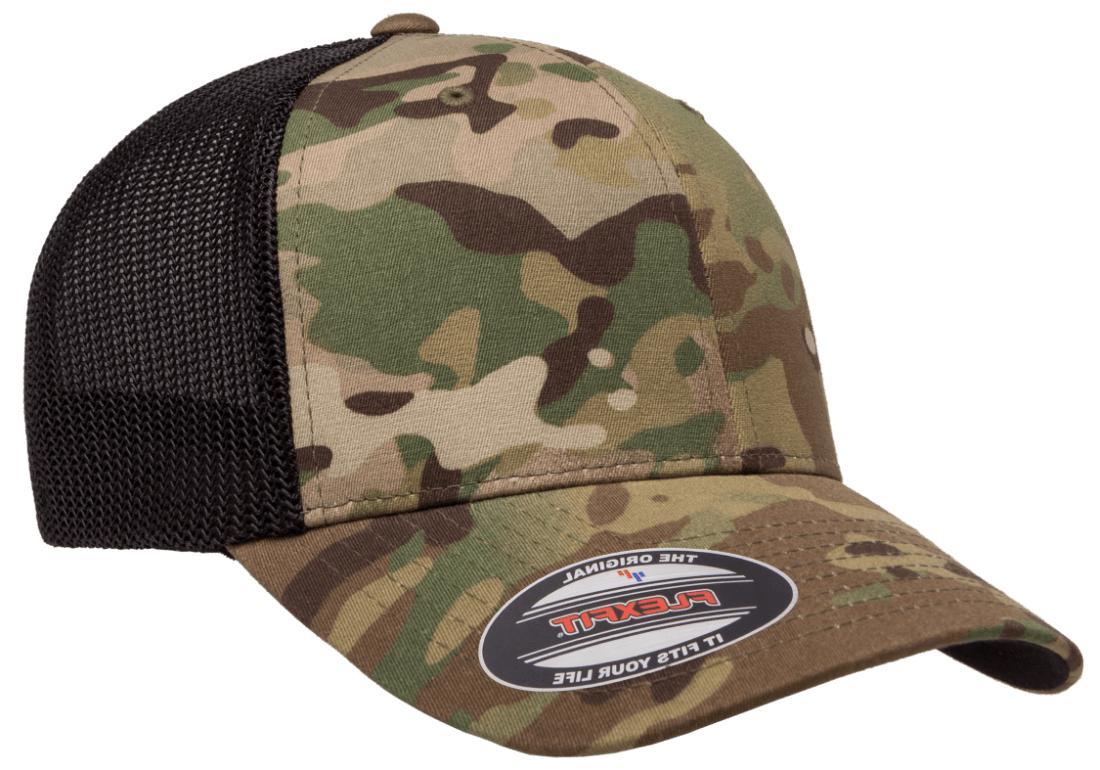 new multicam ballcap fitted hat trucker mesh