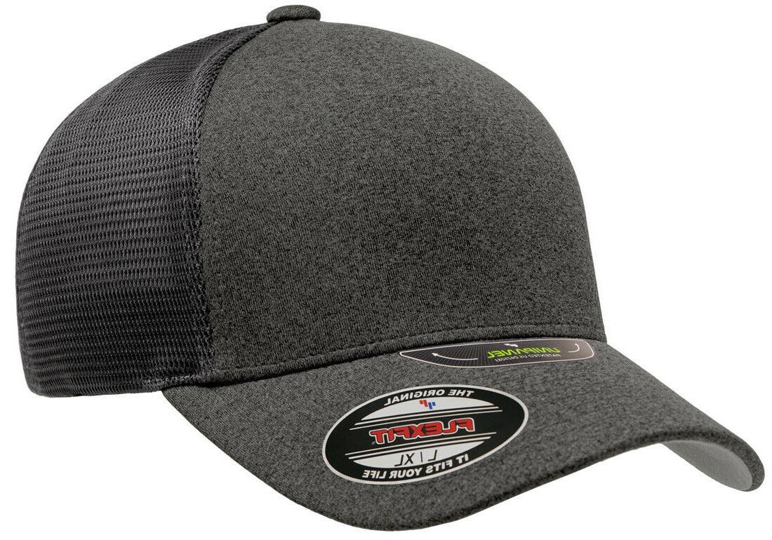 new unipanel trucker mesh curved visor cap