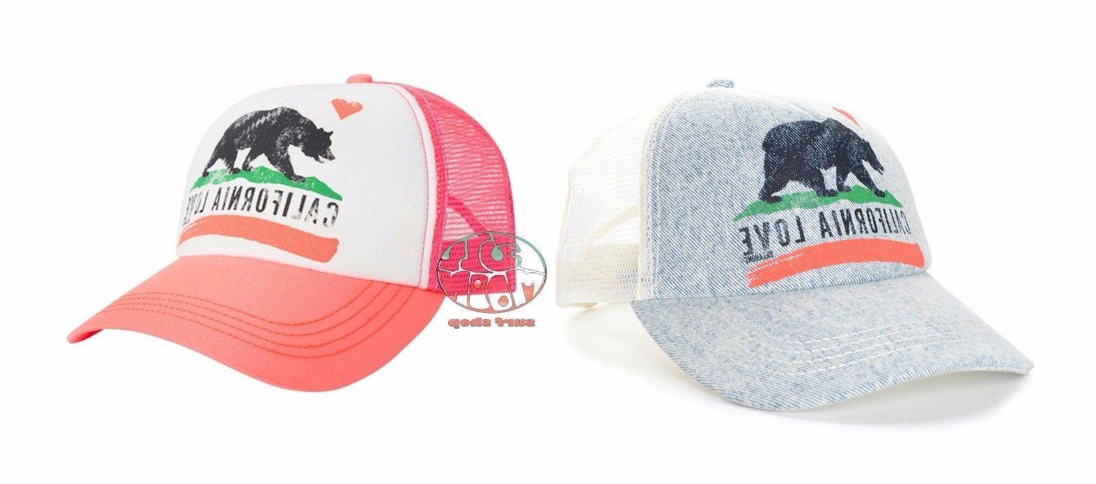 New Billabong Women's Pitstop California Love Mesh Trucker Hat Cap
