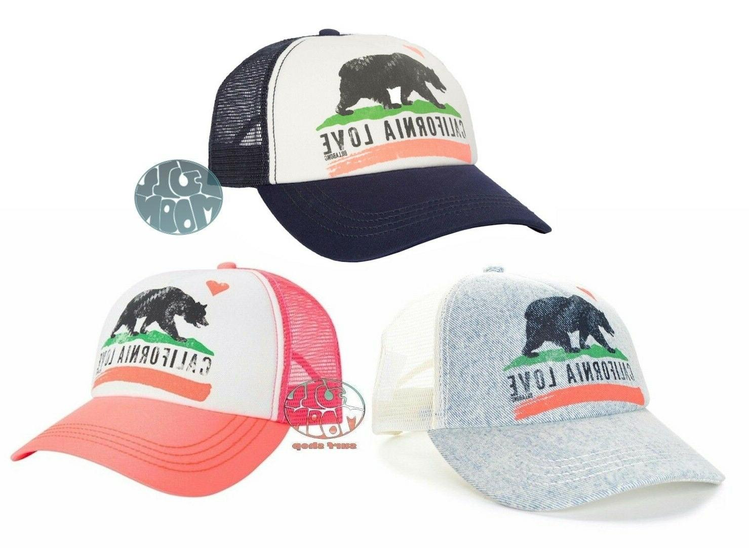 New Women's California Love Trucker Hat