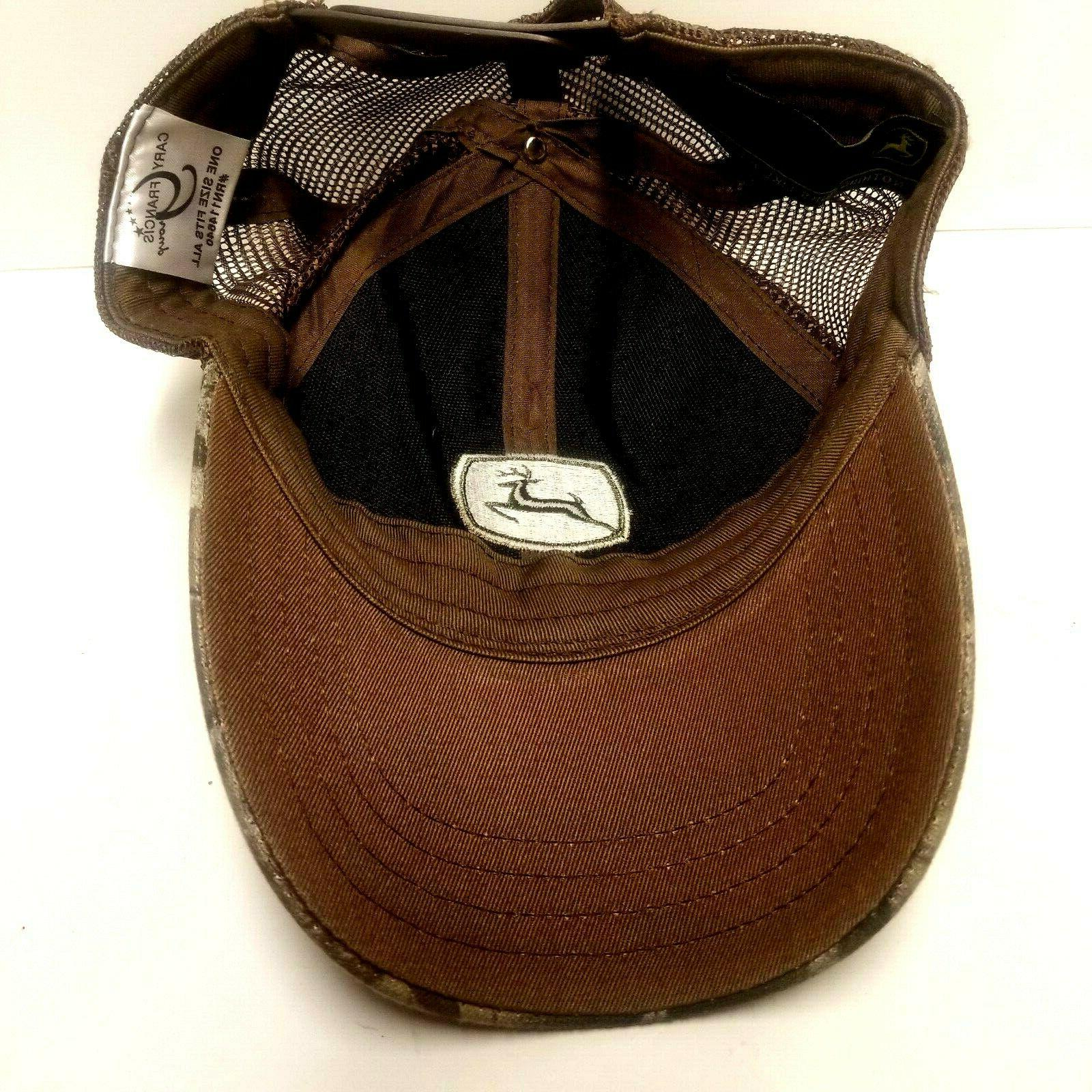 NWOT Cary Deere Camo Brown Trucker