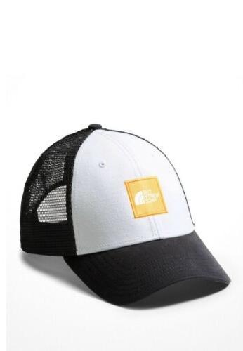 NWT The Box Trucker Hat, Black/Yellow/White