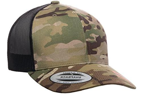 officially licensed yupoong retro trucker multicam by