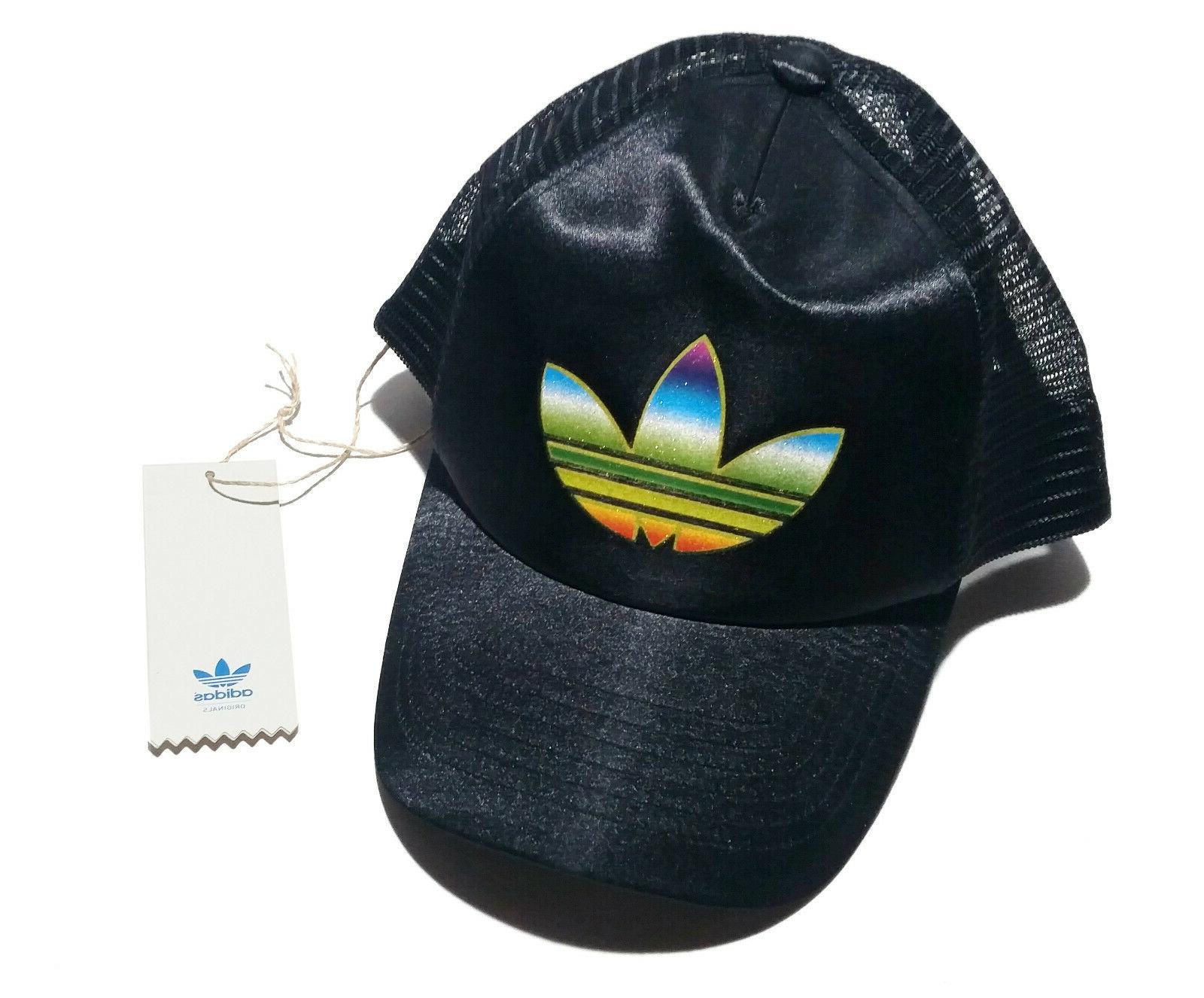 ADIDAS black hat cap trefoil gay
