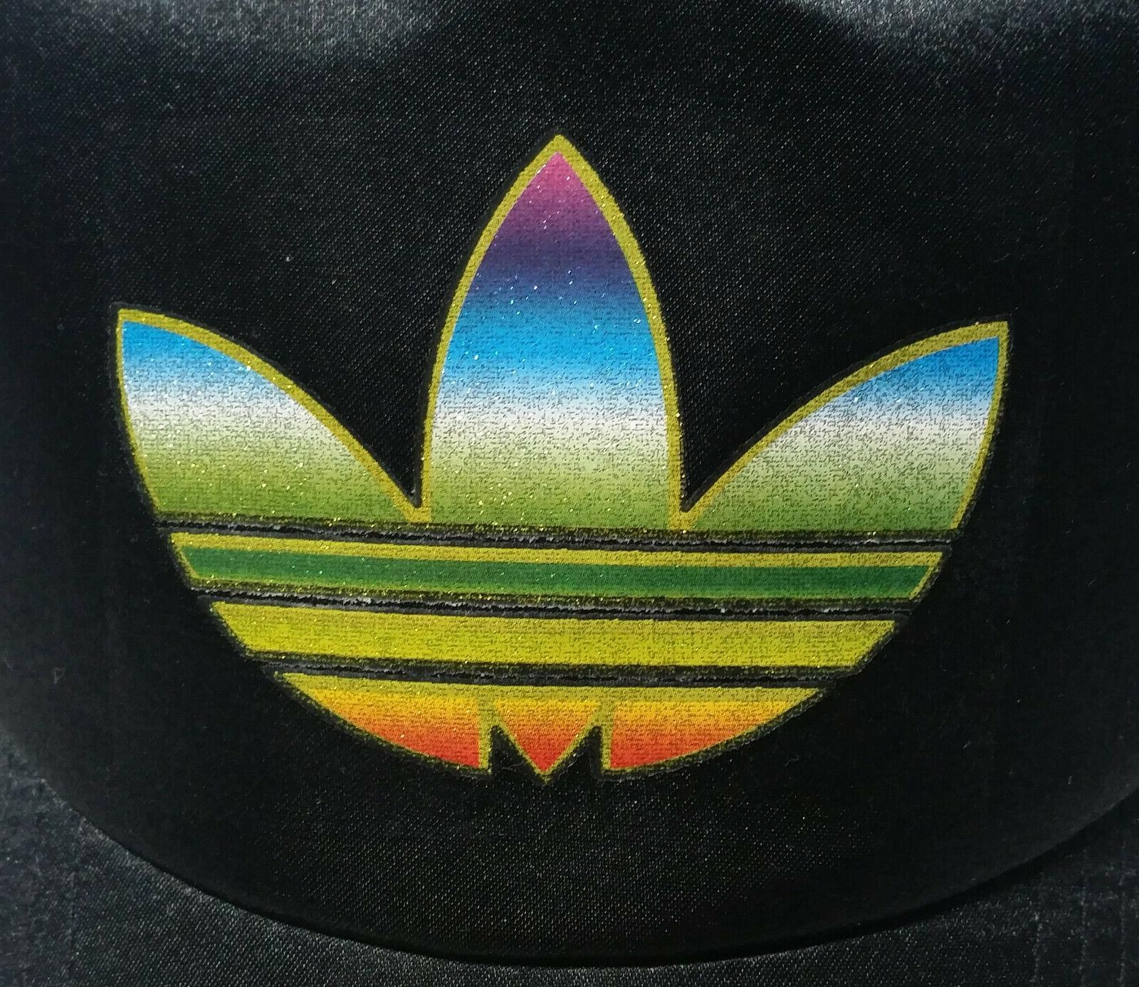 ADIDAS black trucker hat trefoil gay pride