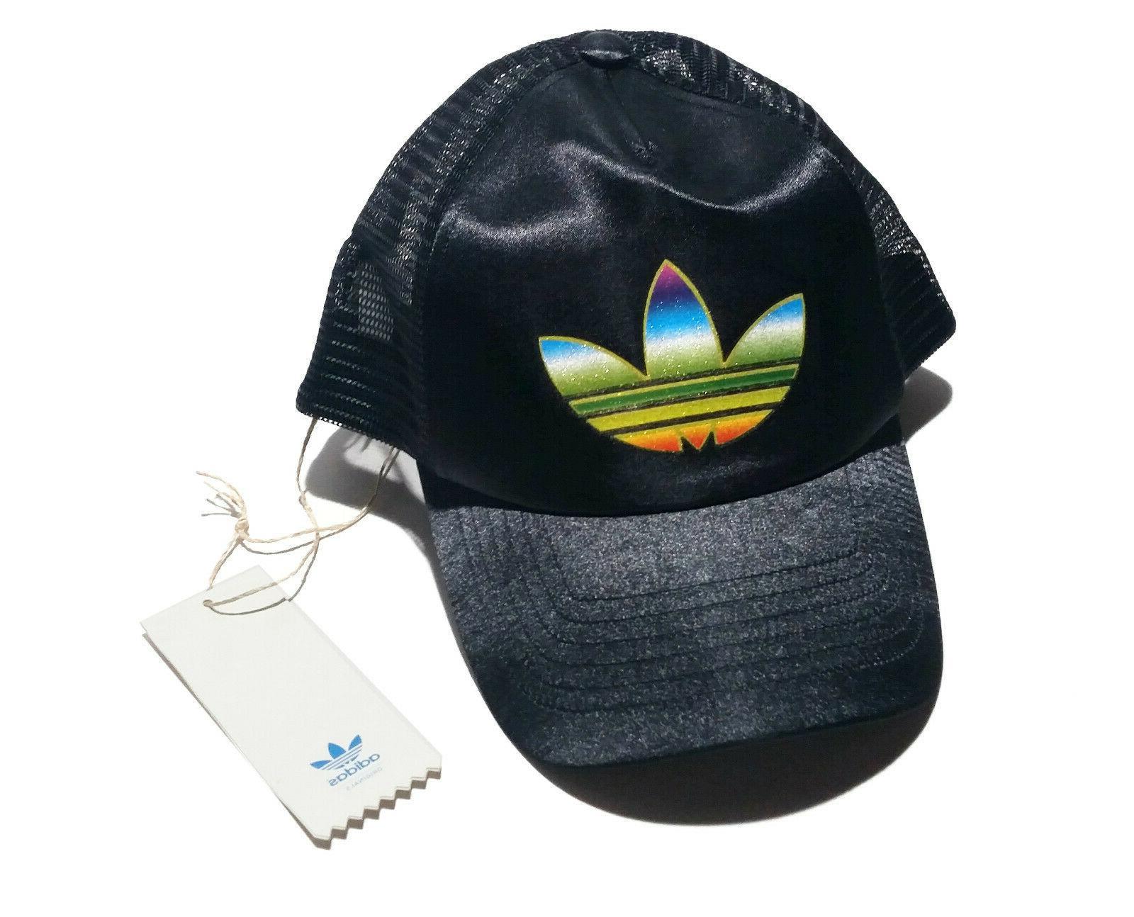 originals black trucker hat cap snapback rainbow