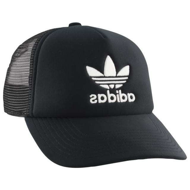 originals trucker hat cap trefoil black mens